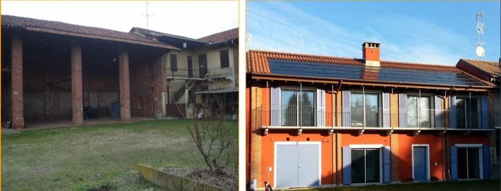 La casa attiva della famiglia Panebianco a Galliate (foto Comune di Galliate)