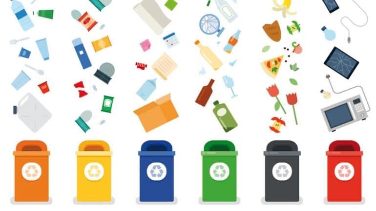 Sempre pi su la raccolta differenziata a milano e - Contenitori rifiuti differenziati per casa ...